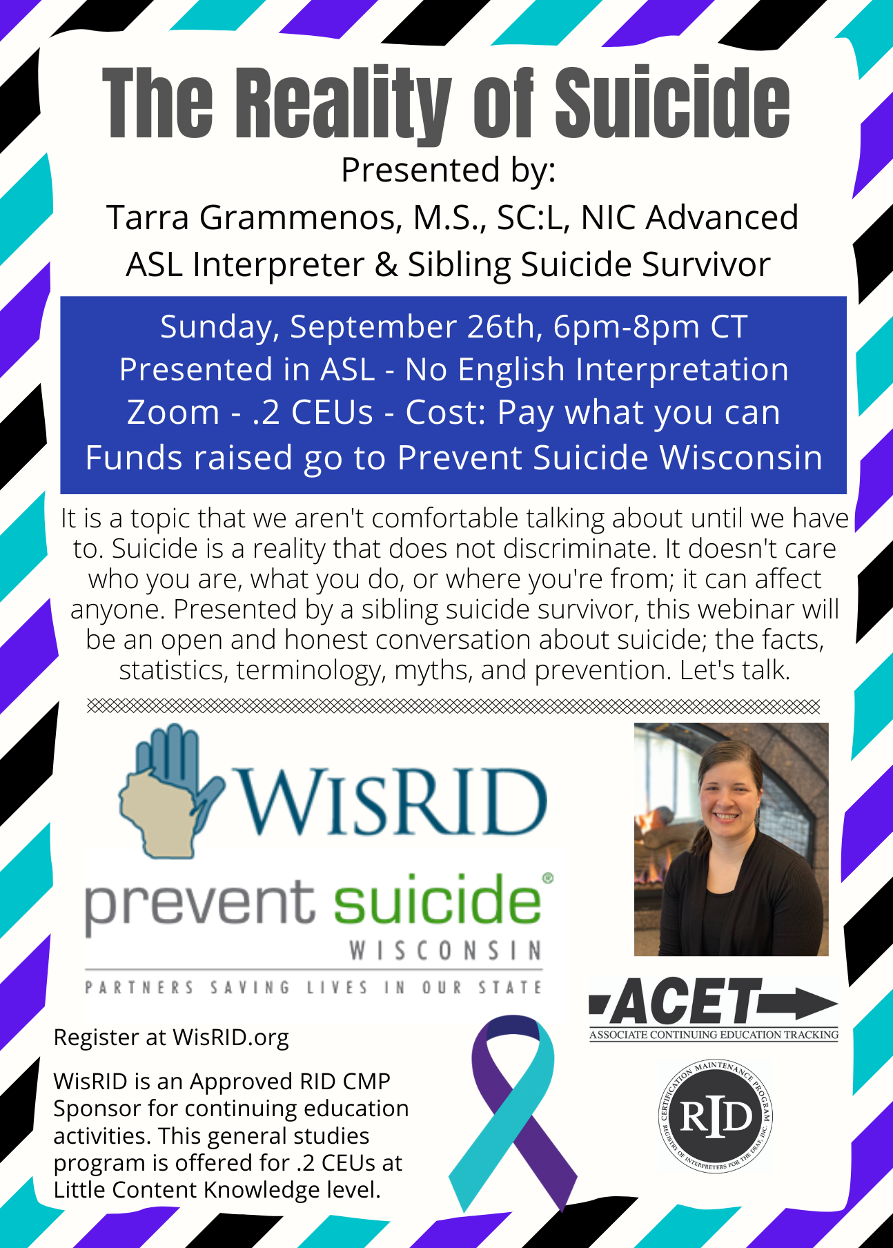 WisRID The Reality of Suicide Flyer
